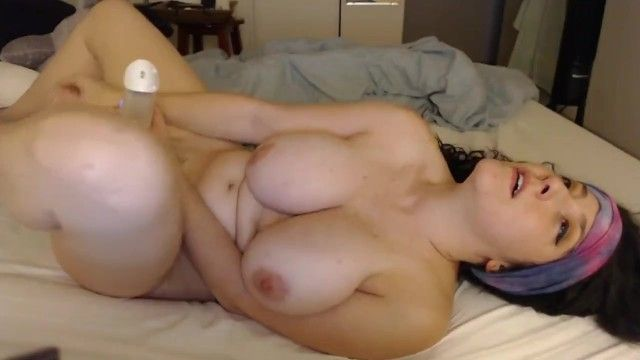 Cum addicted breasty beauty bonks her sex-toy