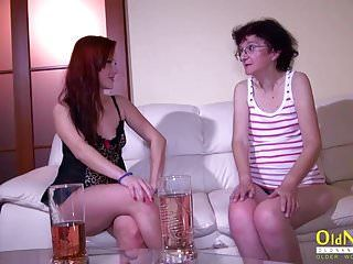 Oldnanny old older and legal age teenager lesbo masturbation