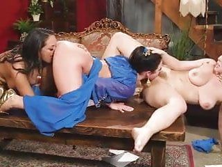 Angela white lesbo threesome
