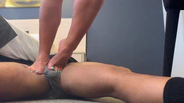 Brawny calves trampling stud 17 inch calves evez musclez on movies 4 sale f