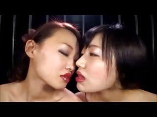 Lesbo asien giving a kiss gals two musicvideo