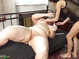 Oldnanny older obese ding-dong addicted lesbo