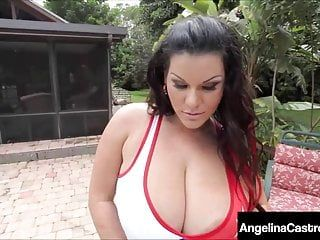 Large marvelous latin babe angelina castro face stuffed cummed on