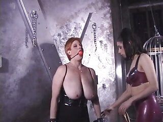 Breasty sweetheart getting punished by mistresse