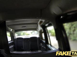 Fake taxi curvy golden-haired with massive titties and large booty