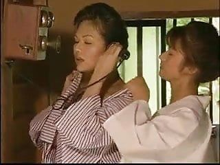 Tamaki sakura - lesbo giving a kiss short scene 1
