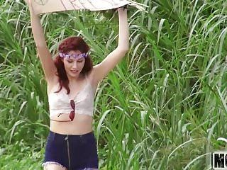3 in natures garb legal age teenager hippies movie starring alexis blaze - mofos