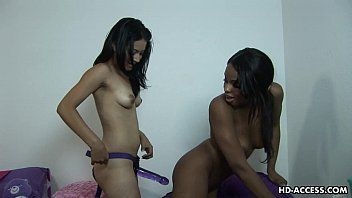 Afro whore acquires pumped by her paramour belt on style