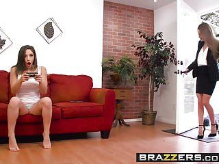 Brazzers - sexy and mean - filthy little gamer scene starring