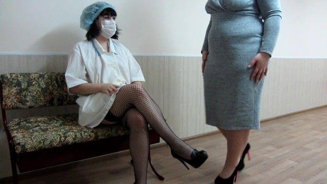 Pov medical scrutiny unfathomable fisting for bushy vagina