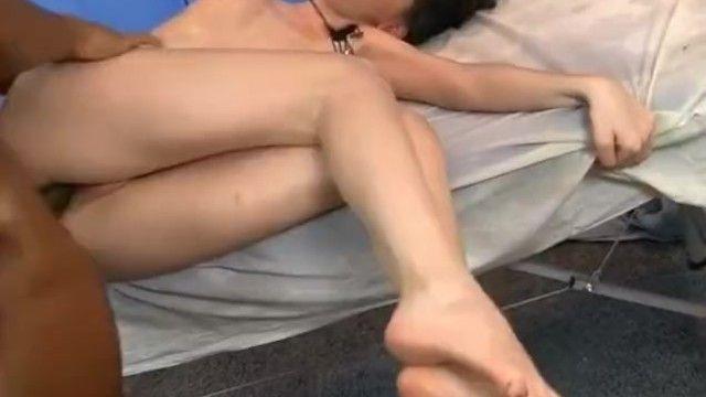 Oil massage porn with hawt brunette hair hottie