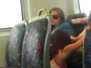 Hawt lesbos eating wet crack on the public bus in melbourne