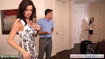 Brunettes india summer and veronica avluv share a large ramrod