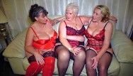 Aged large natural boobed british ladies having pleasure jointly