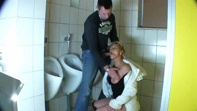Dude bonks a older in a public washroom