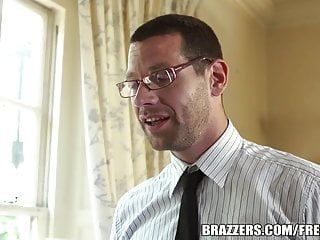 Brazzers - ebony angelika - touching the coach