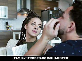 Familystrokes - hawt stepsister sloan harper bonks stepbro