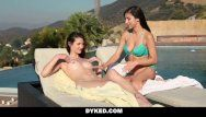 Dyked - hawt legal age teenager lesbian babes outdoor scissoring and pumping