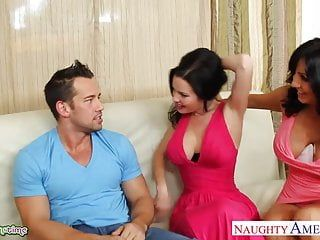 Brunettes tara holiday and veronica avluv sharing shlong