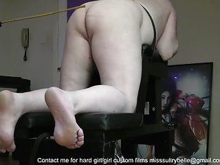 A free episode of a caning session.