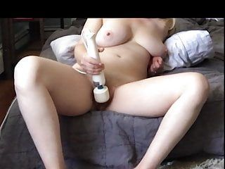 Dilettante wife cums hard watching lesbo porn
