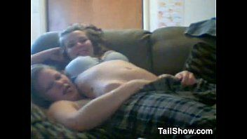 Cute lesbian babes fooling around