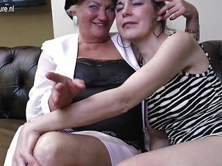Lesbo group sex with granny mamas and cutie
