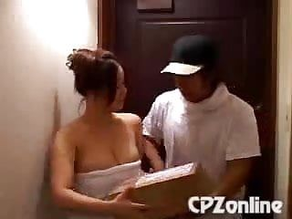Cute japanese beauty entice deliver guy